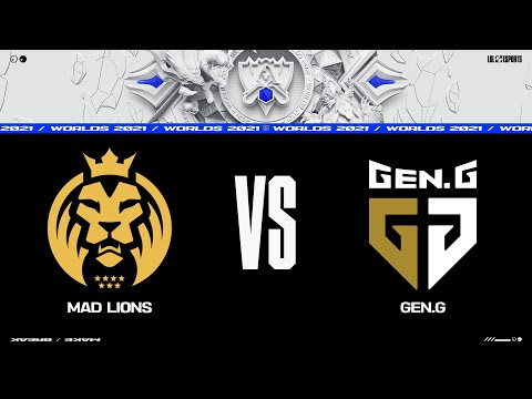 MAD vs. GEN | Worlds Group Stage Day 2 | MAD Lions vs. Gen.G (2021)