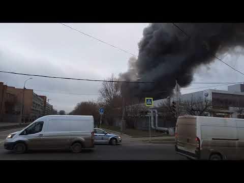 Москва. Пожар 13 декабря 2019.