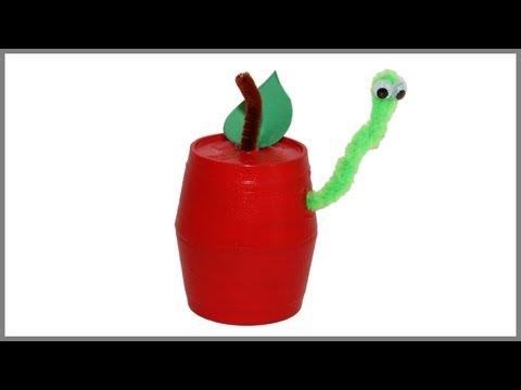 Bricolage automne: pomme