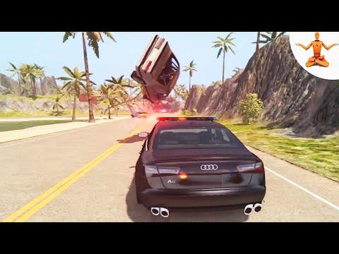BeamNG Drive - IMPOSSIBLE RACING CAR CRASHES #2