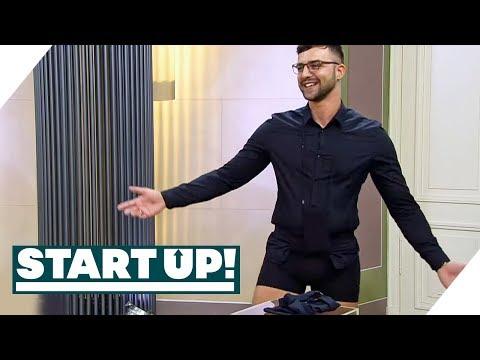 Gründer zieht blank: Der Hemden Halter | Die Pitchs | Start Up! | SAT.1 TV