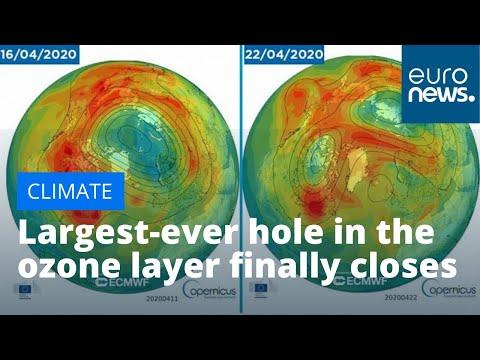 Най-голямата дупка в озоновия слой над Арктика се затвори