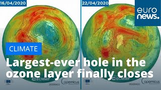 Largest-ever hole in the ozone layer above Arctic finally closes