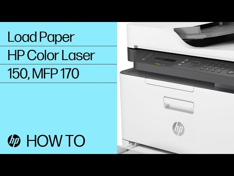 Loading Paper in the HP Color Laser 150 and MFP 170 Printer Series