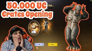 50,000 UC Crates Opening | Pubg Mobile | Cosmic YT