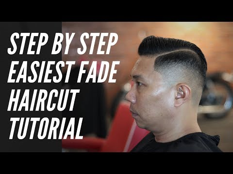 Easiest Fade Haircut Tutorial | STEP BY STEP on HOW TO FADE with English Subtitle