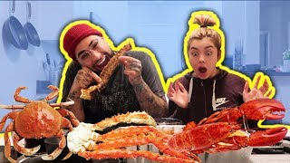 Q&A SEAFOOD MUKBANG ft. MY GIRLFRIEND!