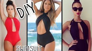 DIY Halter Monokini Swimsuit