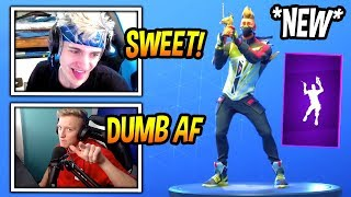 "NINJA & TFUE REACT TO *NEW* ""LLAMA BELL"" EMOTE/DANCE! *EPIC* Fortnite FUNNY & SAVAGE Moments"