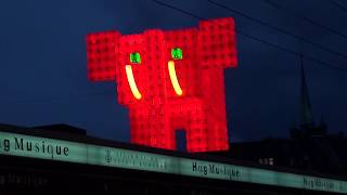 VIDEO : Elephant Rouge at Lausanne Lumières 2017, Switzerland