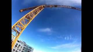FPV Drone Crane Diving