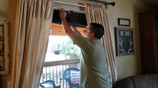 Install Wood or Faux Wood Blinds with Hidden Snap In Brackets