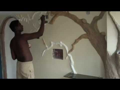How to -  3d tree - wall putty - With Dilip Art