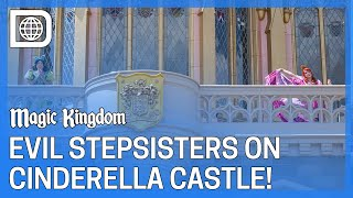 Evil Stepsisters Socially Distanced at Cinderella Castle - Magic Kingdom