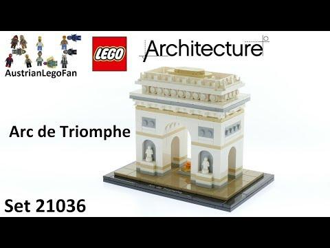 Vidéo LEGO Architecture 21036 : Arc de Triomphe (Paris, France)