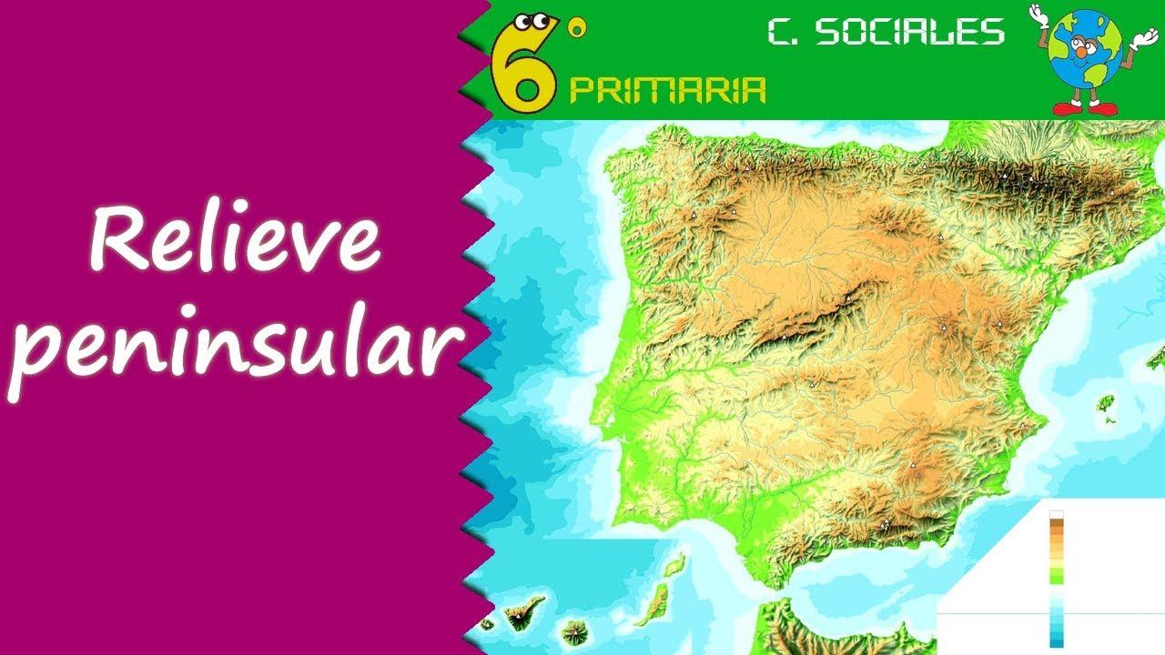 Relieve peninsular. Sociales, 6º Primaria