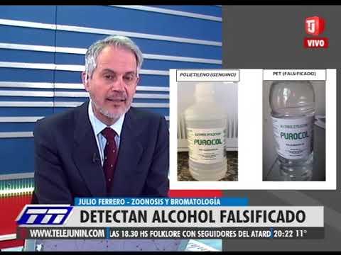 DETECTAN ALCOHOL FALSIFICADO.