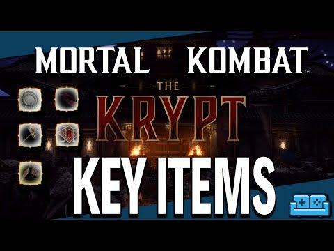 MORTAL KOMBAT 11 | KRYPT - KEY ITEM LOCATIONS GUIDE