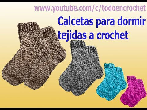 Calcetines o medias termicas tejidas  a crochet para hombres, damas y niños