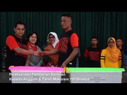 Bantuan Korem 151/Binaiya Kepada Anggota & Persit Makorem 151 Yang Terdampak Gempa