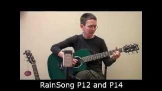 RainSong Parlor P12 and P14 Comparison