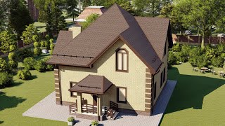 Проект дома 173-A, Площадь дома: 173 м2, Размер дома:  9,2x9,4 м