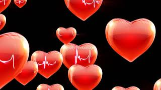 Hearts Motion Background | Love motion background | heart falling effect video | love background