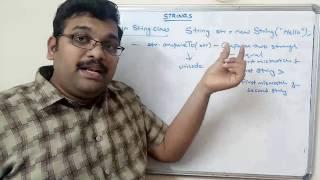 STRING CLASS & STRING METHODS - JAVA PROGRAMMING