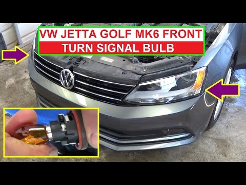 How to Replace the Front Left or Front Right Turn Signal Bulb on VW Jetta MK6 and VW Golf MK6