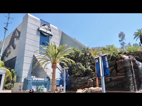Jurassic World Walls Are Down & Ride Testing - Universal Studios Hollywood Construction Update