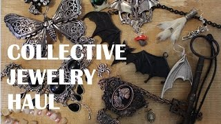 Gothic/Alternative Collective Jewelry Haul - Necklaces, Earrings, Clips