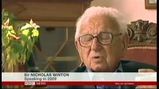 Sir Nicholas Winton memorial (1909 - 2015) (UK) - BBC News - 19th May 2016