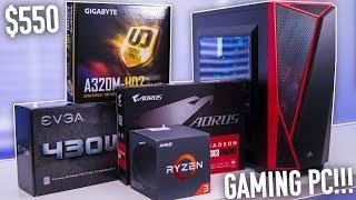 Best $550 Ryzen 3 Budget Gaming PC Build -  Radeon RX 570