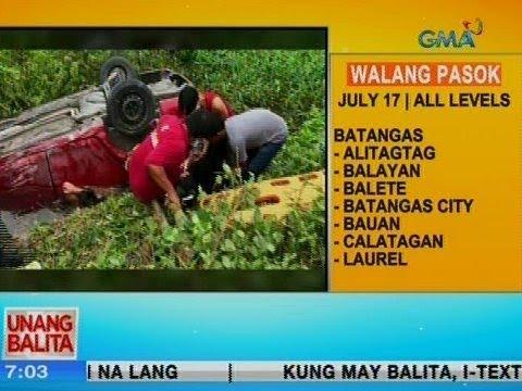 [GMA]  UB: Kotse, nahulog sa bangin sa Porac, Pampanga; driver, nakatulog umano