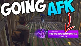 Going AFK Whilst Trading Rainbow Crystal (RARE ITEM) - Fortnite Save The World