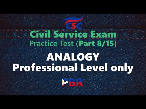 Civil Service Exam – Analogy: Professional Level only (Practice Test ...