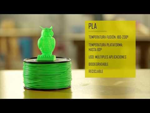 Materiales. Tipos de Filamentos para la impresión 3D
