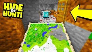 Finding a TREASURE MAP to SECRET BASE! - Hide Or Hunt #3