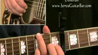 How To Play Donovan Ballad of a Crystal Man (intro only)