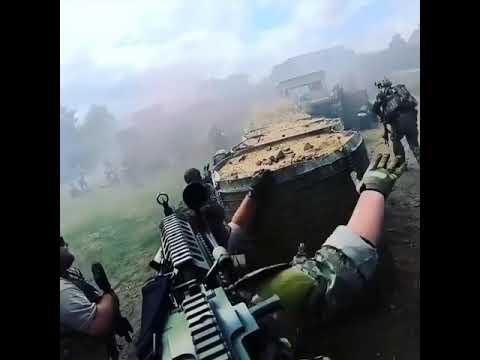 Softgunner francesi in azione