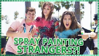 Spray Painting Strangers?! | Do It For The Dough W/ Tessa Brooks And Anthony Trujillo