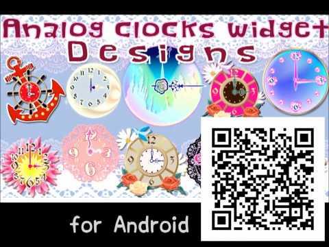 Video of Analog clocks widget designs
