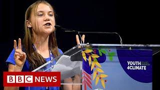 Greta Thunberg mocks world leaders in 'blah, blah, blah' speech - BBC News