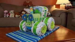 Tractor Diaper Cake (How To Make)