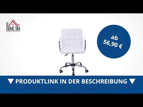 Homcom Drehstuhl Kosmetikhocker Rollhocker Drehhocker Arbeitshocker - direkt kaufen!