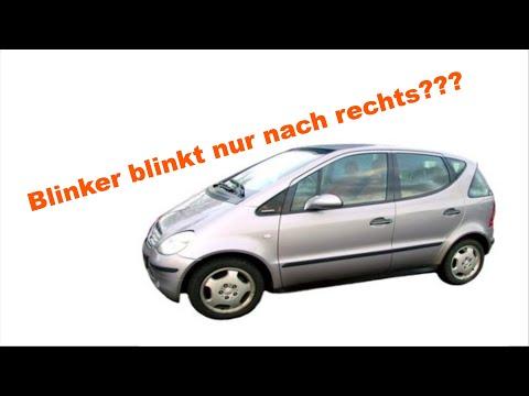 W168 // Mercedes A Klasse // Blinker blinkt falsch, nur nach rechts // only right flasher work //