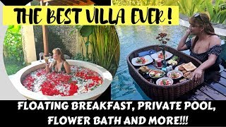 Floating Breakfast In A Private Pool And The Best Villa Ever! ( Nau Villa, Ubud Vlog Last Part)