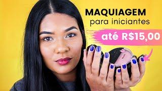 Kit de maquiagem para iniciantes de até R$15,00
