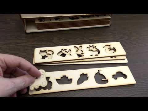 Набор детских тематических пазлов из дерева