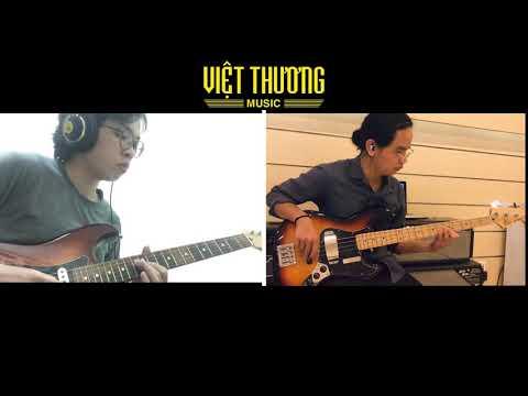 Demo Fender Player Strat HSS vs Fender Deluxe Jazz Bass (All of Me - Jam online session)